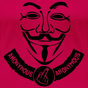 anonymous masque mask banniere banderole Tee shirts - T-shirt Premium Femme