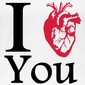 I Love You / Realistisch T-Shirts - Frauen Premium T-Shirt