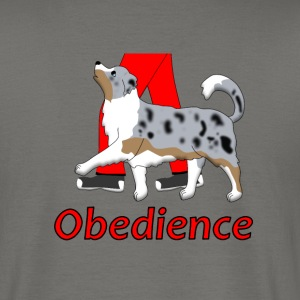 Obedience Australien Shepherd 3 T-Shirts - Men's T-Shirt