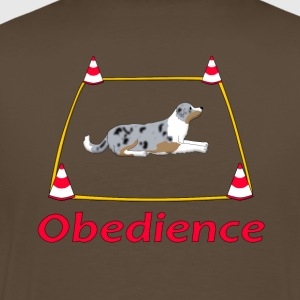Obedience Box Australien Shepherd T-Shirts - Men's Premium T-Shirt