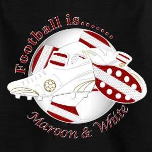 Football is maroon and white Shirts - Kids' T-Shirt