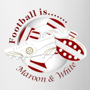 Football is maroon and white Bottles & Mugs - Mug
