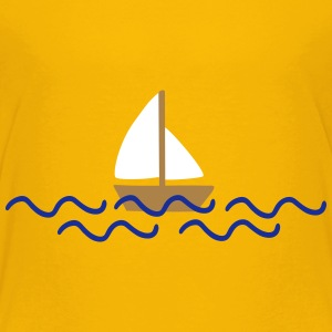 ship with waves Tee shirts - T-shirt Premium Enfant