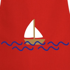 ship with waves  Aprons - Cooking Apron