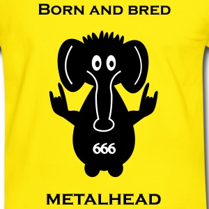 Born and bred metalhead classic logo T-shirts - Mannen contrastshirt