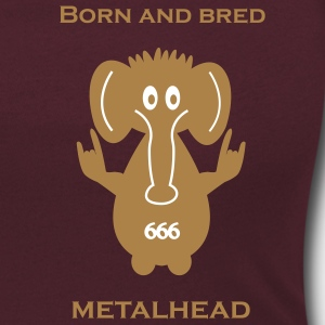 Born and bred metalhead classic logo Tee shirts - T-shirt col rond U Femme