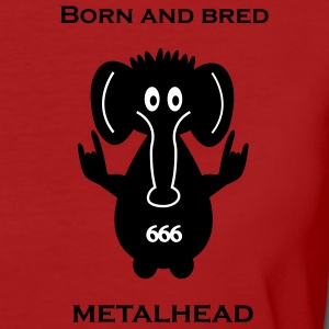 Born and bred metalhead - elephant T-shirts - Ekologisk T-shirt dam