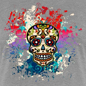 Mexican Sugar Skull - Day of the Dead T-skjorter - Premium T-skjorte for kvinner