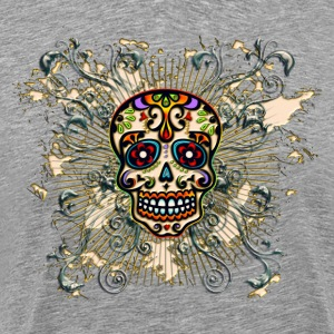 Mexican Sugar Skull - Day of the Dead T-Shirts - Men's Premium T-Shirt