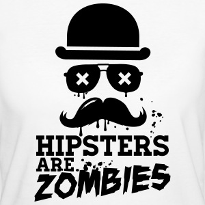 Lustige hipsters zombies zombie hipster undead  T-Shirts - Frauen Bio-T-Shirt