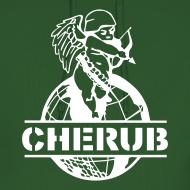Design ~ Cherub Campus Green Men's Hoodie