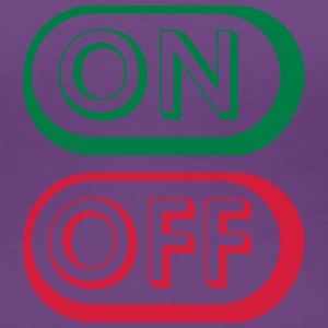 On Off Buttons T-shirts - Dame premium T-shirt