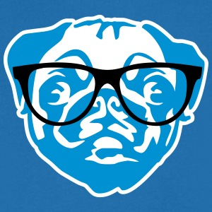 nerd mops with glasses Tee shirts - T-shirt Homme col V