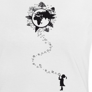 Earth-Shirt - Frauen Kontrast-T-Shirt