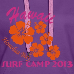 Hawaii Surf Camp Honolua Bay 2013 Pullover & Hoodies - Frauen Premium Hoodie
