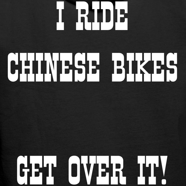 I ride Chinese - back & front & arms