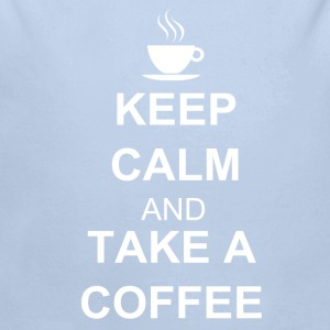 Keep calm and TAKE A COFFEE Sweaters - Baby bio-rompertje met lange mouwen