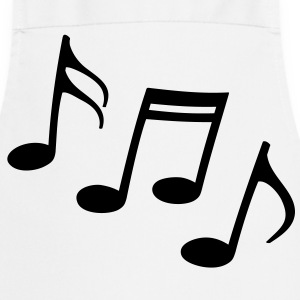 Happy notes Sheet Music musicians  clef   Aprons - Cooking Apron