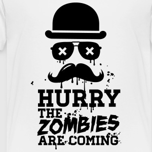 Hurry the zombies are coming zombie undead Shirts - Teenage Premium T-Shirt