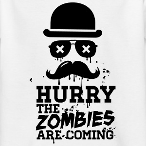 Hurry the zombies are coming zombie undead Shirts - Teenage T-shirt
