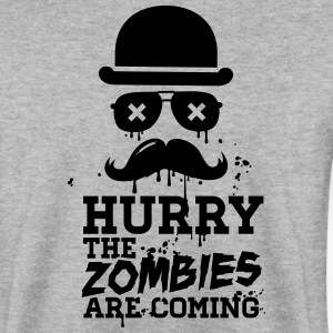 Hurry the zombies are coming zombie halloween Pullover & Hoodies - Männer Pullover