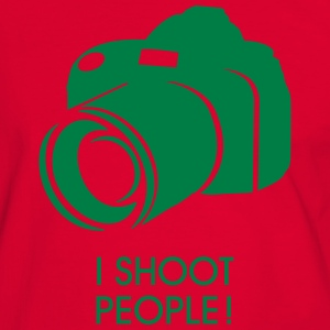 i shoot people T-Shirts - Men's Ringer Shirt