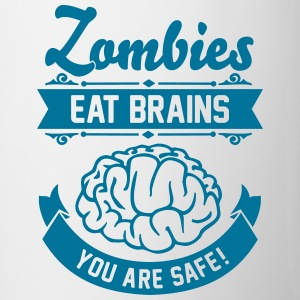 Zombies eat Brains you are safe! Flessen & bekers - Mok