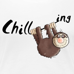 Chillen - Faultier - Faulenzen - Cartoon T-Shirts - Frauen Premium T-Shirt