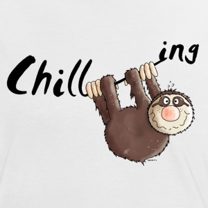 Chillen - Faultier - Faulenzen - Cartoon T-Shirts - Frauen Kontrast-T-Shirt