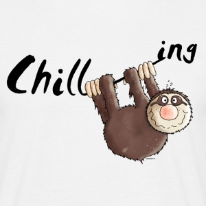 Chilling - Sloth - Cartoon T-Shirts - Men's T-Shirt