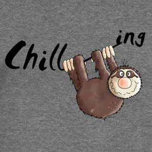 Chilling - Sloth - Cartoon Hoodies & Sweatshirts - Women's Boat Neck Long Sleeve Top