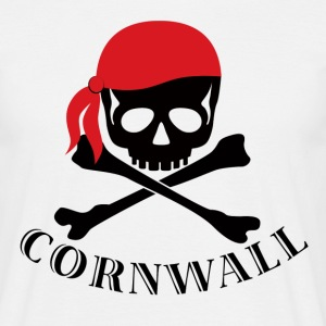 White Cornwall Pirate Men's Tees - Men's T-Shirt