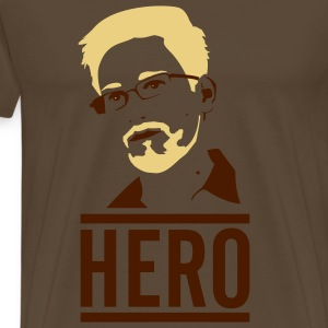 Edward Snowden: Hero T-Shirts - Men's Premium T-Shirt