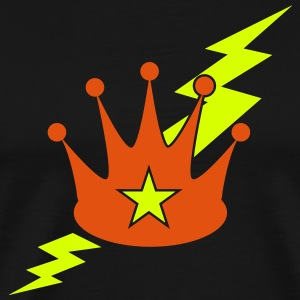 crown with a lightning bolt T-Shirts - Men's Premium T-Shirt
