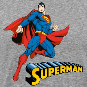 Superman Move Pose Mannen T-Shirt - Mannen Premium T-shirt