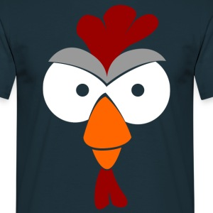 Agro-colored rooster head  T-Shirts - Men's T-Shirt