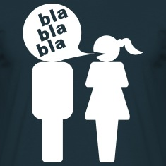 Man bla bla bla woman  T-Shirts