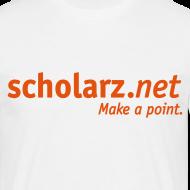 Motiv ~ scholarz.net - T-Shirt Weiß