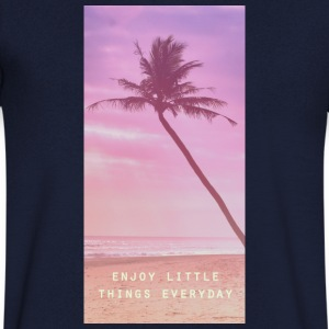 enjoy little things everyday Magliette - Maglietta da uomo con scollo a V