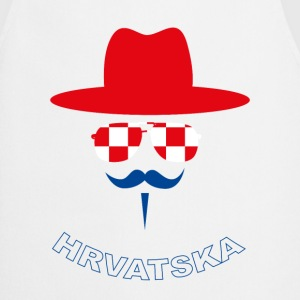 Croatia Fan with mustache  Aprons - Cooking Apron