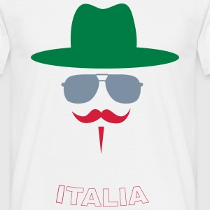 Italy Fan with mustache Camisetas - Camiseta hombre