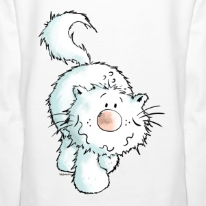 Sourire chat blanc - Persan - Chats persans Sweat-shirts - Sweat-shirt à capuche Premium pour femmes