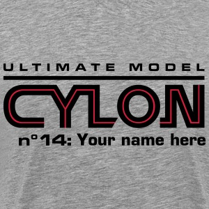 Ultimate model cylon n°14: YOUR NAME - Herre premium T-shirt