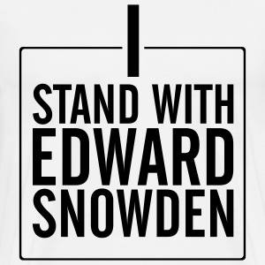 Edard Snowden: Stand with Edward T-Shirts - Men's Premium T-Shirt