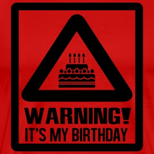 Warning - it's my birthday Tee shirts - T-shirt Premium Homme