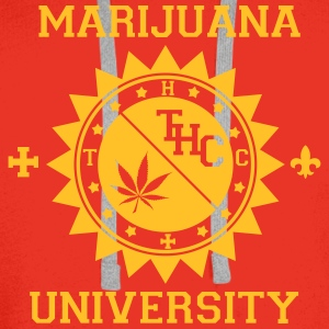 T-shirt Marijuana university - Sweat-shirt à capuche Premium pour hommes