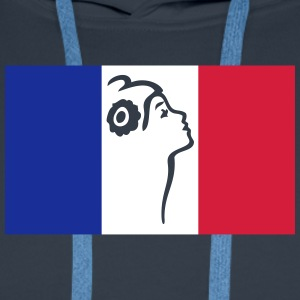 France drapeau et Marianne Sweat-shirts - Sweat-shirt à capuche Premium pour hommes
