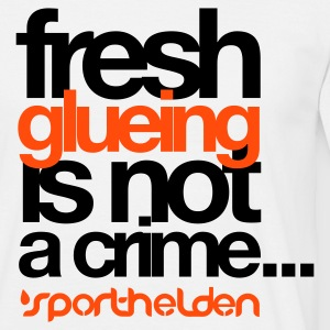 Weiß tischtennis-fresh glueing is not a crime2 T-Shirts - Männer T-Shirt