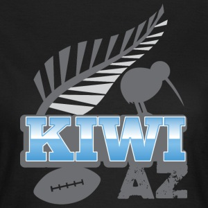 KIWI AZ New Zealand with a rugby ball and bird T-Shirts - Women's T-Shirt
