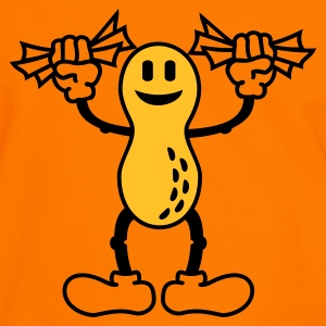 Orange/black peanuts (B, 2c) Men's Tees - Men's Ringer Shirt